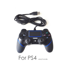 цены Wired Gamepad For Playstation Dualshock 4 Joystick wired Gamepads PS4 Controller Multiple Vibration 1.8M Cable