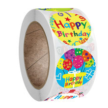 50-500 pces festa de aniversário adesivo caixa de cartão pacote obrigado selo etiqueta fontes de festa de casamento
