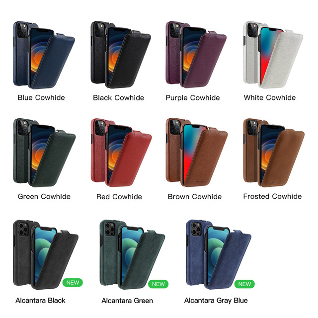 Melkco Genuine Leather Flip Phone Case For iPhone 12 Pro Max mini 11 X Xr Xs Max 7 8 SE Business Luxury Real Cow Cases Bag Cover 6