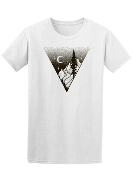 Landscape With Moon Dot Art Men'S Tee -Image By Tee Tshirt Tee Shirt
