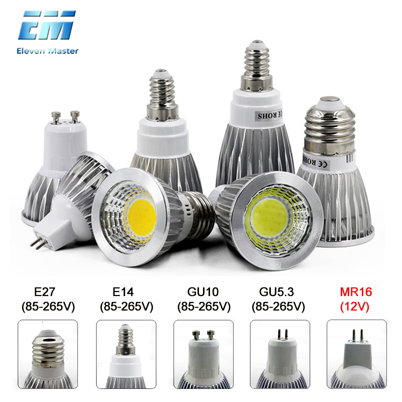 220V 110V GU10 LED E27 Lamp E14 Spotlight Bulb Dimmable lampara GU10 bombillas led MR16 gu5.3 Lampada Spot light 5W 7W ZDP0001