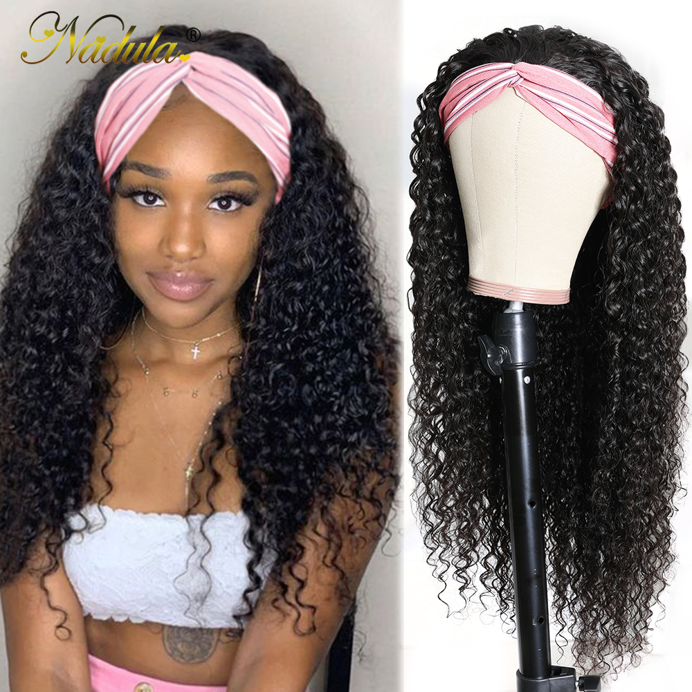 Nadula Curly Headband Wig  8-26 Curly Hair Headband Wig  Virgin  Wigs With Headband Natural Looking 3