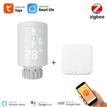 Smart Life Zigbee Smart TRV Radiator WiFi Radiator Actuator Programmable Radiator Valve Tuya Smart APP Control Alexa Compatible