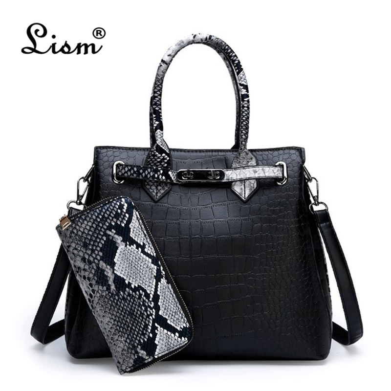 Women's Bag Luxury High Quality Classic Crocodile Pattern Handbag Brand Designer Large Capacity OL Shoulder Messenger Bag