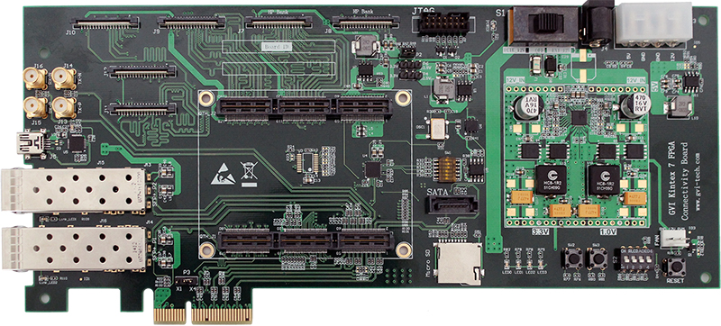 Kintex-7 High-Speed Connection Function Baseboard, PCIe Gen2 X4, Dual 10G Ethernet,(China)