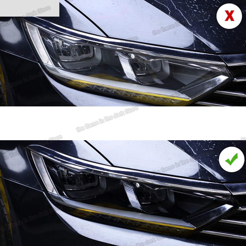 Lsrtw2017 TPU Black Transparent Car Headlight Protective Film For Volkswagen Passat B8 2017 2018 2019 2020 Sticker Vw Variant