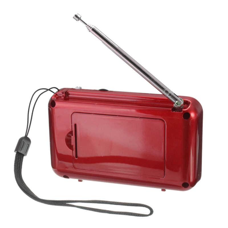 T508 Mini portátil de luz LED estéreo Radio FM reproductor de música MP3 TF altavoz USB, Rojo
