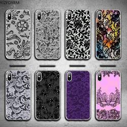 Сексуальный кружевной Цветочный боковой чехол для телефона iphone 12 pro max 11 pro XS MAX 8 7 6 6S Plus X 5S SE 2020 XR чехол