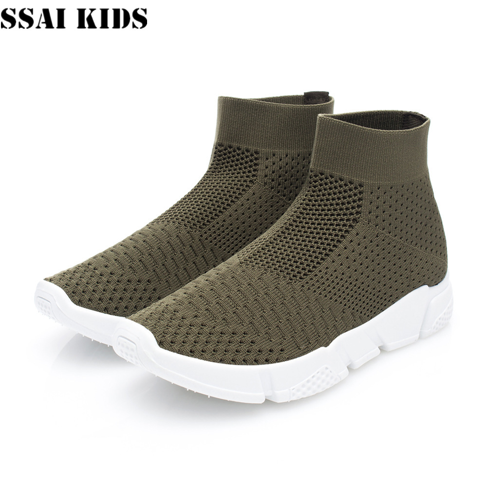 SSAI KIDS Women's Breathable High-top Sports Leisure Flying Woven Net Shoes Flats Shoes Sneakers for Women Size 36-42