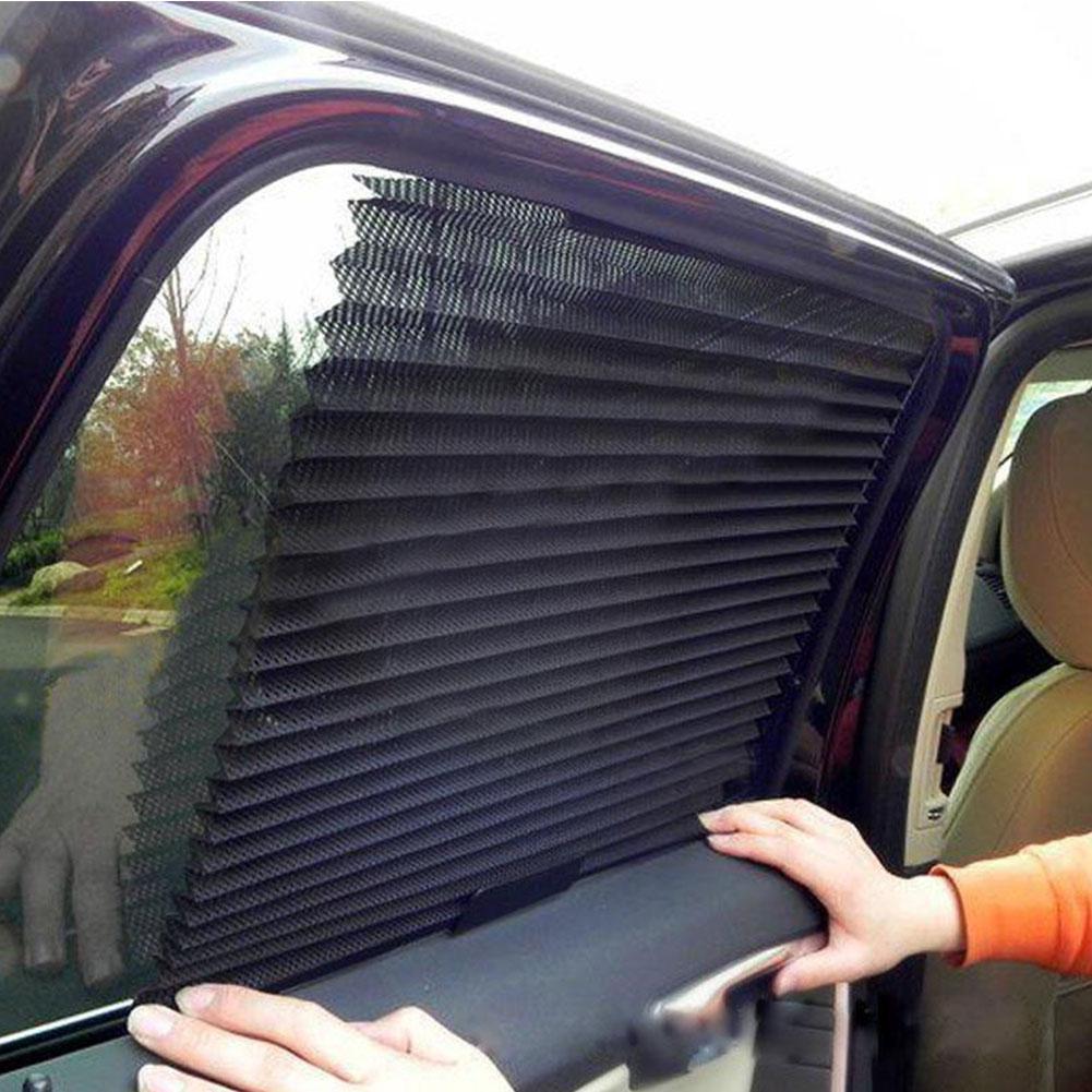 Car Truck Auto Retractable Side Window Curtain Sun Shield Blind Sunshade
