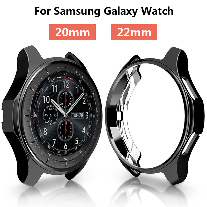 Gear S3 Case 22mm For <font><b>samsung</b></font> Galaxy Watch <font><b>46mm</b></font> 42mm band strap cover soft TPU plated All-Around protective case shell frame image