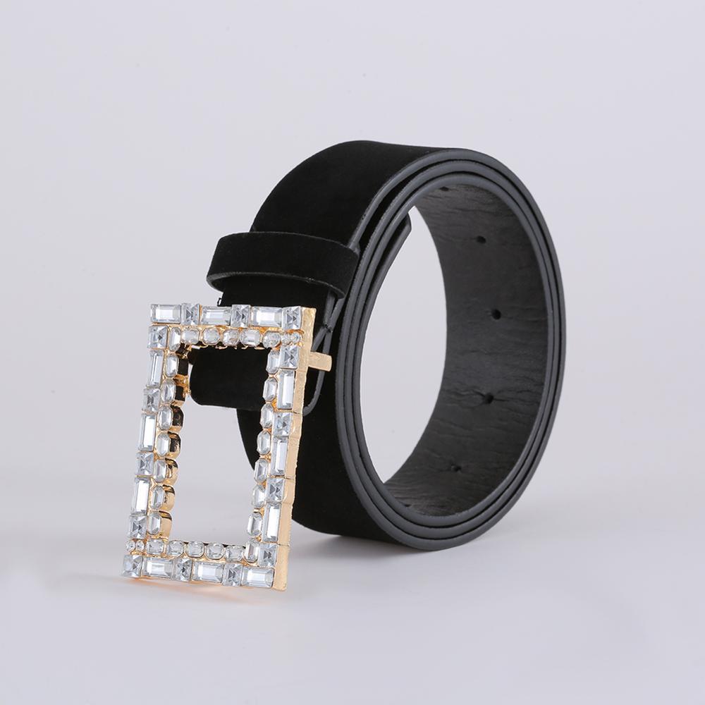 Juran Women Belt Genuine Leather New Punk Style Fashion Pin Buckle Jeans Decorative Belt Chain Luxury Brand Belts For Women