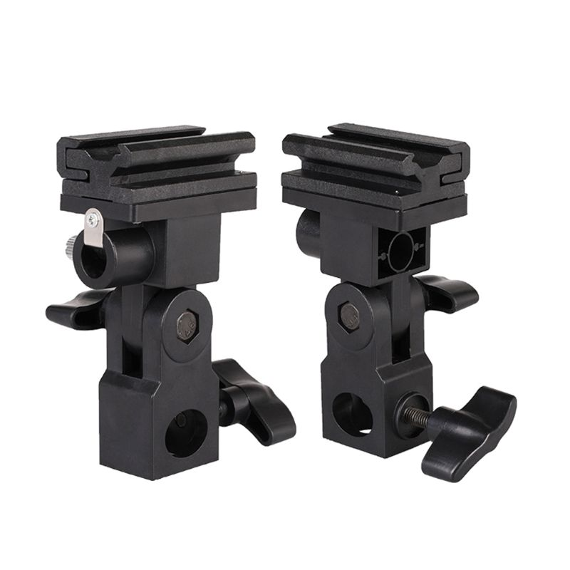 2 Pcs Flashlight B Type Flash Hot Shoe Speedlite Umbrella Mount Holder Swivel for Light Stand Photography Accessories