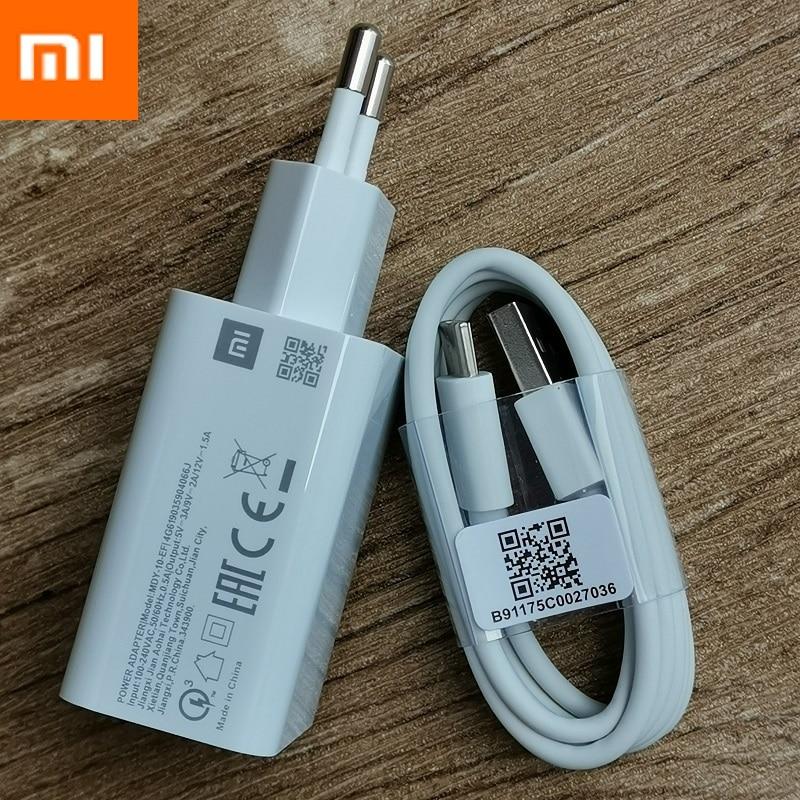 Originais xiaomi mi 9 SE adaptador de carregador de parede rápida QC 3.0 carregador rápido USB 3.1 cabo de dados para mi 8 mi x 2 6 2S 3 redmi note 7 8 pro