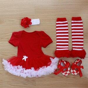 0-12 miesięcy noworodka śpioszki dziewczęce sukienka 4 sztuk ubrania zestaw akcesoria na głowę, buty, skarpetki, stroje letni kombinezon jednoczęściowy kostium dla dzieci