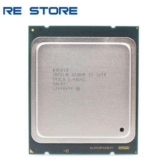 Intel xeon e5 2690 processador 2.9ghz 20m cache lga 2011 srolo c2 cpu 100% trabalho normal