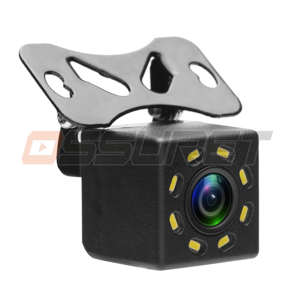Ossuret Car Rear View Camera Universal 8 LED Night Vision Backup Parking Reverse Camera Waterproof 170 Wide Angle HD Color Image