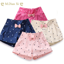 Kids Summer Shorts Children Pants Flower-Girls Clothing Princess Fashion Bow