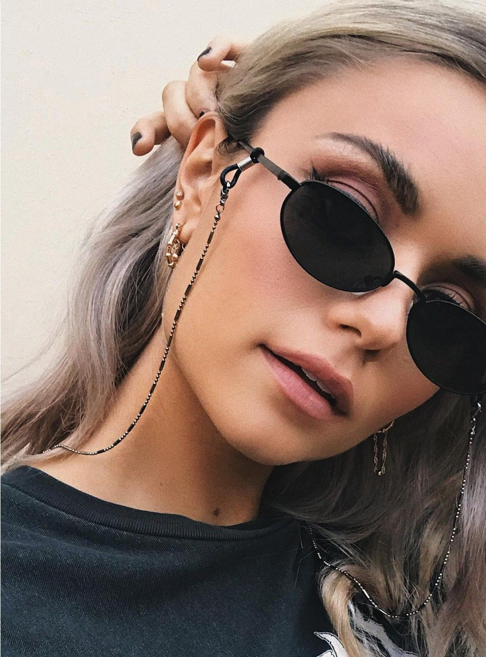 Lanyard For Glasses Bead Glasses Chain Fashion Glasses Strap Sunglasses Cords Casual Glasses Accessories DJ-162