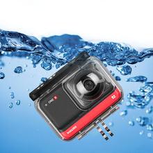 Para insta360 um r caso de mergulho à prova dwaterproof água habitação 360 versão panorâmica câmera escudo protetor acessórios