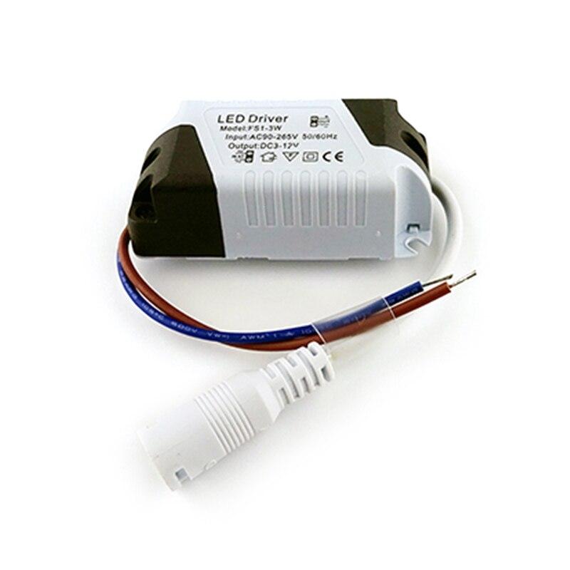 Светодиодный драйвер 240-270mA 1 Вт, 3 Вт, 4-7W 8-12 Вт 13-18 Вт 18-24 Вт светодиодный s Питание блок AC90-265V трансформаторы систем освещения для светодиодный ...