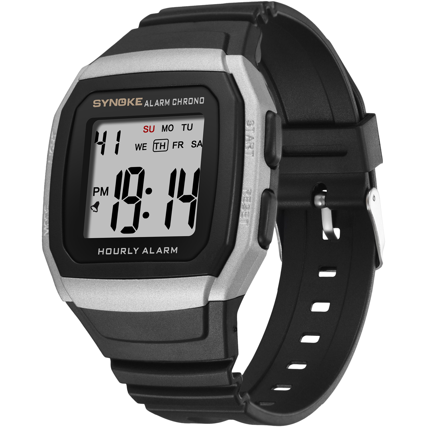 PANARS Sports Outdoor Electronic Watch Pu Strap Alarm Clock Timing Men Watch Waterproof Multi Function Military Watches 2019