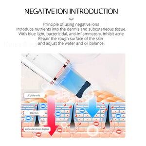 Image 4 - Глубокий аппарат для чистки лица ультразвуковой ионный скребок для кожи EMS пилинг лопатка очиститель пор лица