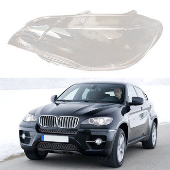 Headlights Lens Cover Headlamps Transparent Lampshades Lamp Shell Masks Front Left For BMW X6 E71 2008-2013 Replacement