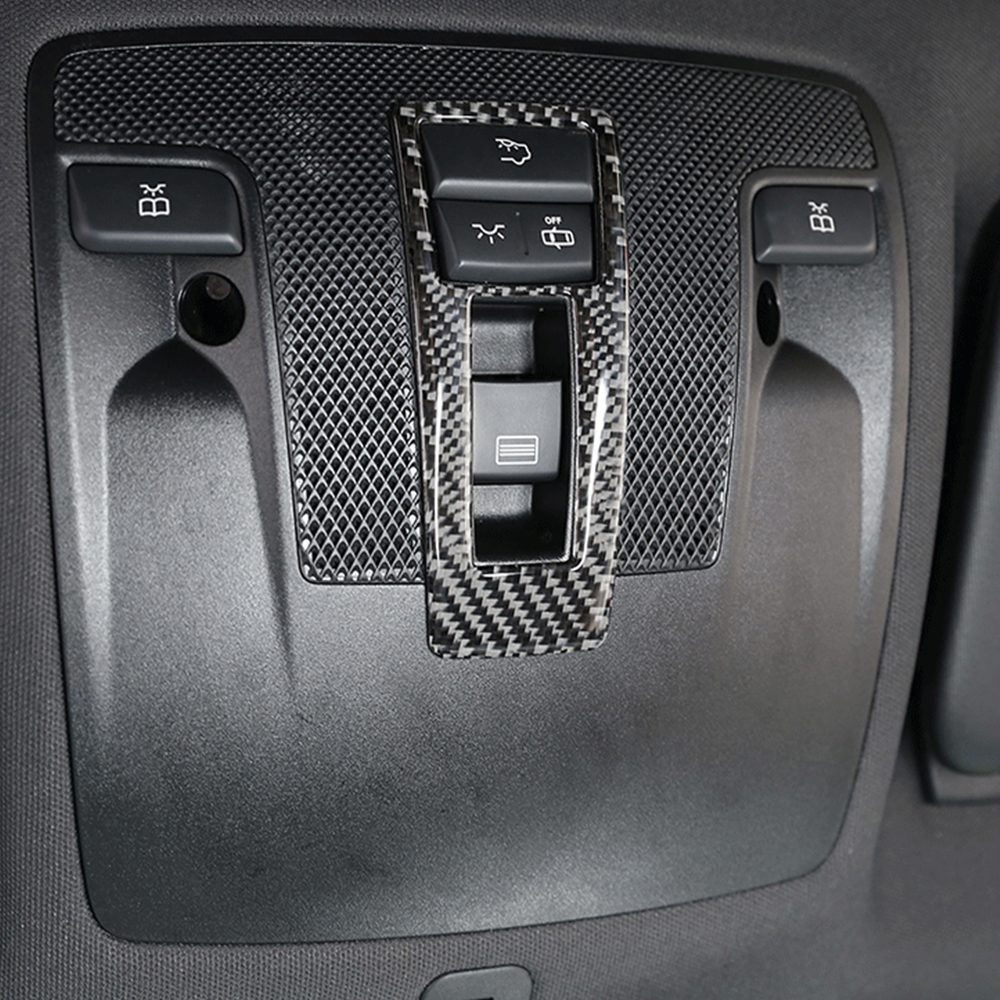Carbon Fiber Front Reading Light Lamp Cover Trim Decorative Car Stickers For <font><b>Mercedes</b></font> Benz GLA CLA A Class <font><b>W176</b></font> A180 X156 C117 image
