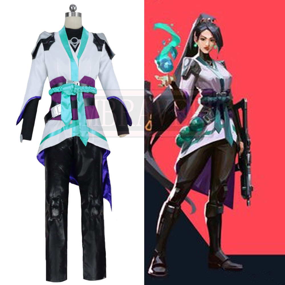 Game Valorant Sage Cosplay Costume Cos Halloween Christmas Party Uniform Costom Made Any Sizes