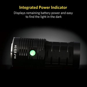 Image 2 - BLF Q8 4*XPL 5000lm Powerful LED Flashlight 18650 Professional Searchlight Multiple Operation Procedure