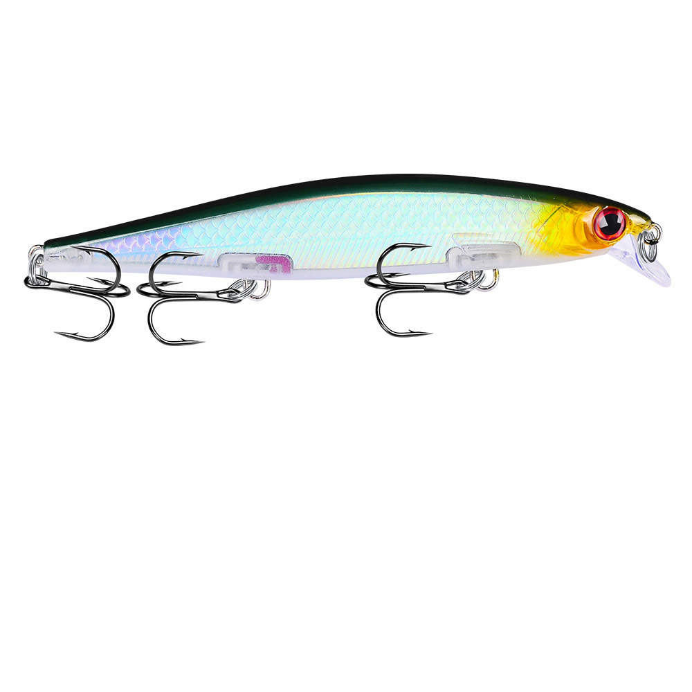 NEW HOT Minnow fishing lure 11cm 13g lifelike fish swing hard bait high quality noise japan fishing tackle deep diving lures in Fishing Lures from Sports Entertainment