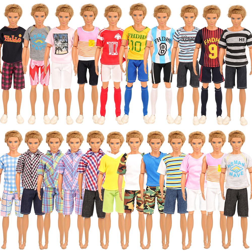 Newest Handmade Fashion 5 Clothes /set Dolll Accessories Random Pick Ken Clothes For Ken Doll Best DIY Birthday Gift For Boy