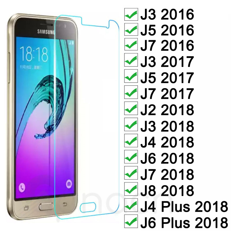 Tempered Glass On For Samsung Galaxy J3 J5 J7 2015 2016 2017 Screen Protector For Samsung J2 J8 J4 J6 Plus 2018 Protective Film-in Phone Screen Protectors from Cellphones & Telecommunications