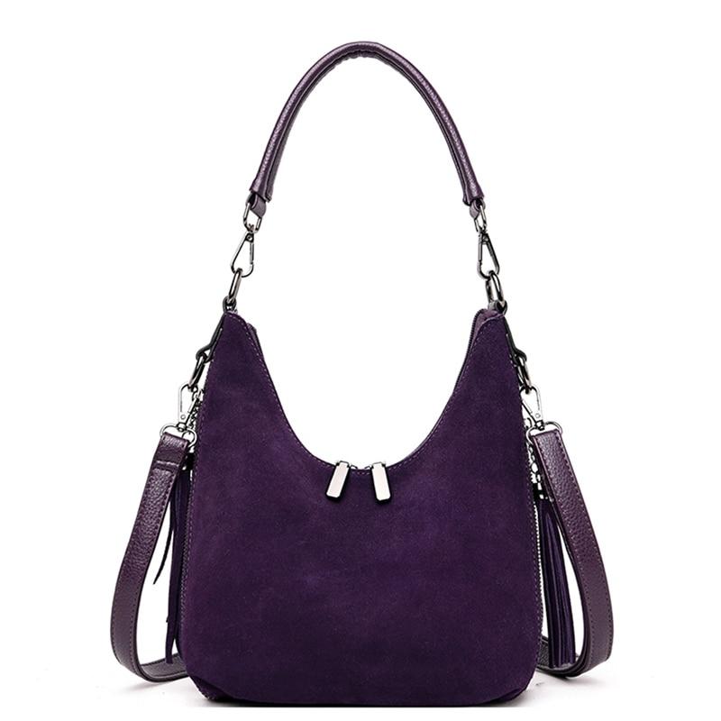 Designer Handbags High Quality Leather Street Fashion Shoulder Bag Ladies Purple Hobos Tote Bags For Women Small Messenger Bag