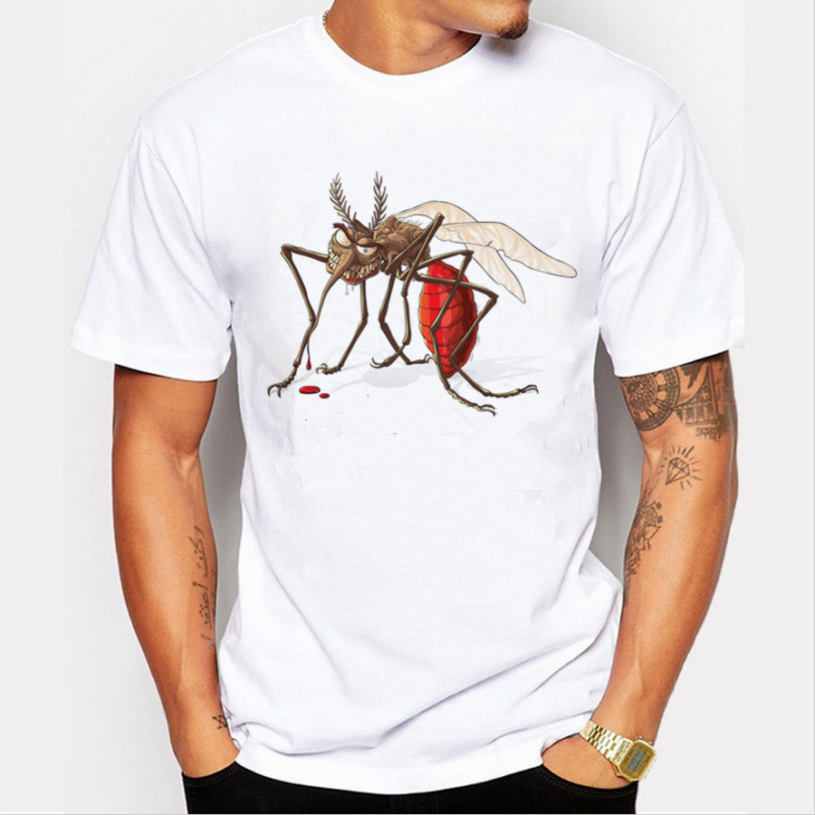 New Arrivals 2020 Cool Design Men's Fashion Mosquito Printed T-Shirt Short Sleeve O-neck Tops Hipster Tee Christmas Shirt