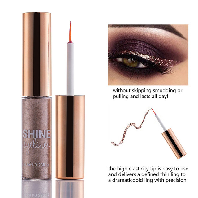Matte Liquid Eyeliner Bright Color Waterproof Eye Liner Pencil Long-Lasting White Eye Liner Pen Eyes Makeup 3