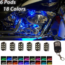 Motor Styling Lighting 1 Set 36LED Super Bright Motorcycle Pod Light Ground Effect Kit Remote Control
