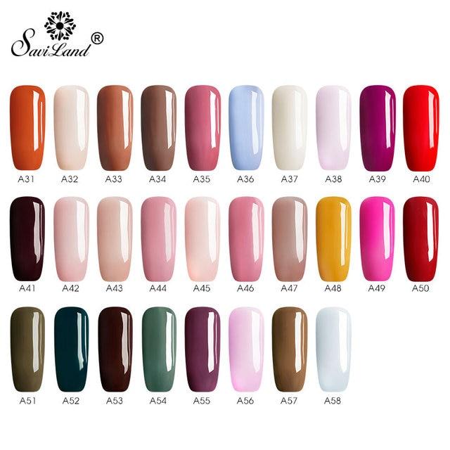 Saviland Gel vernis à ongles stylo Gel peinture 58 couleurs paillettes vernis à ongles nu stylo 6 pièces ensemble Dawdler UV & Led vernis à ongles