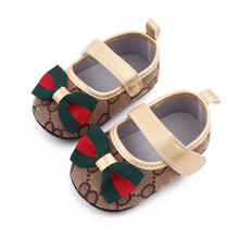 2021 Fashion Butterfly Knot Princess Shoes for Baby Girls First Walkers Soft Soled Flats Baby Moccasins Toddler Crib Shoes