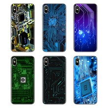 For Xiaomi Mi3 Samsung A10 A30 A40 A50 A60 A70 Galaxy S2 Note 2 Grand Core Prime TPU Bag Case Computer Motherboard Circuit board(China)