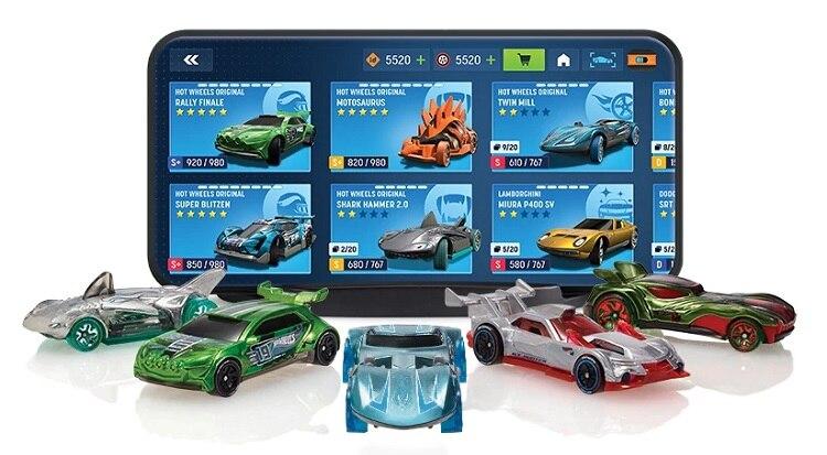 Hot Wheels ID Car Mobile Game Car Batmobile Bone Shaker Camaro Uniquely Identifiable Vehicles Metal Diecast Model Cars Toy