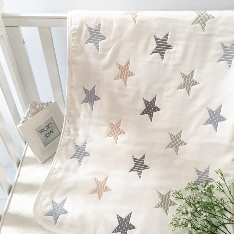 Baby Blanket 110cm X 110cm Muslin Cotton 6 Layers Thick Newborn Swaddling Autumn Baby Swaddle Bedding Flamingo Receiving Blanket