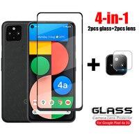 4-in-1 Für Glas Google Pixel 4A 5G Volle Abdeckung Gehärtetem Glas Für Google Pixel 4 5 EINE XL Kamera Objektiv HD Screen Protector Film