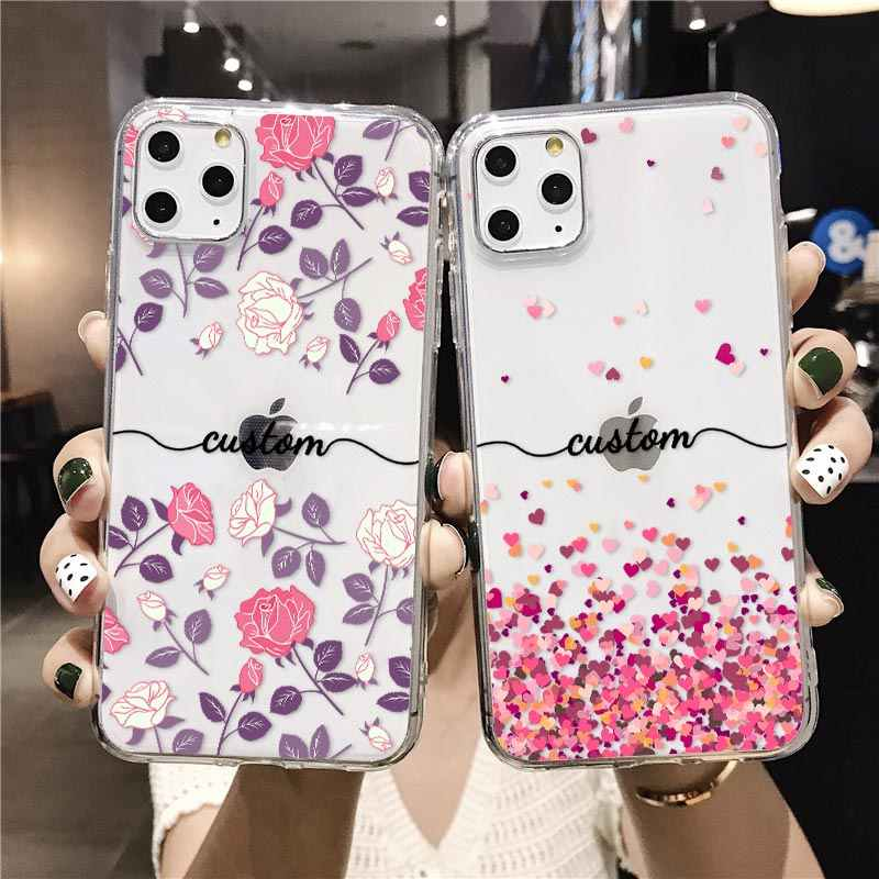 Personalised Name Custom Phone Case For iPhone 12 11 Xs MAX XR 8 7