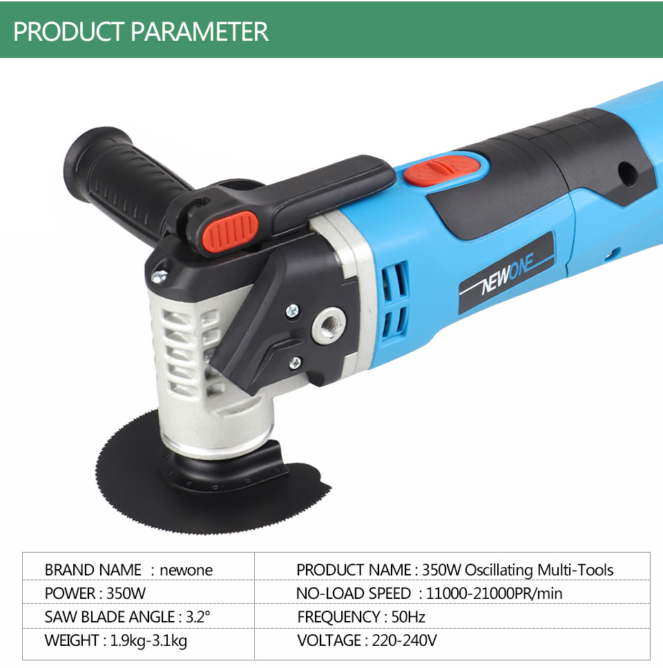 Tools : NEWONE sets Multi-Function Electric Saw Oscillating Trimmer Home Renovator Tool woodworking Tool two colors random delivery