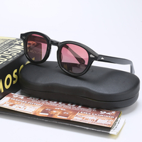 Fashion Johnny Depp Polarized Sunglasses Men Women With Case$Box Luxury Brand Designer Sun Glasses For Male Female Oculos QF505