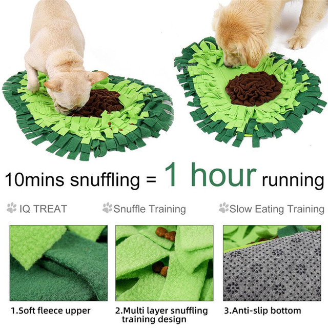 Dog Sniffing Mat Dog Puzzle Toy Pet Snack Feeding Mat Boring Interactive Game Training Blanket Snuffle Feeding Training Mat 5