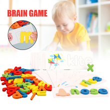New Card Alphabet Puzzle Toys Wooden Letter Spelling Game Interesting Early Educational Toys For Children Juegos Para Niños