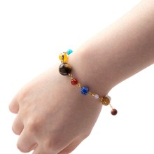 New Cosmic Galaxy Solar System Eight Planetary Bracelets Guardian Star Natural Stone(China)